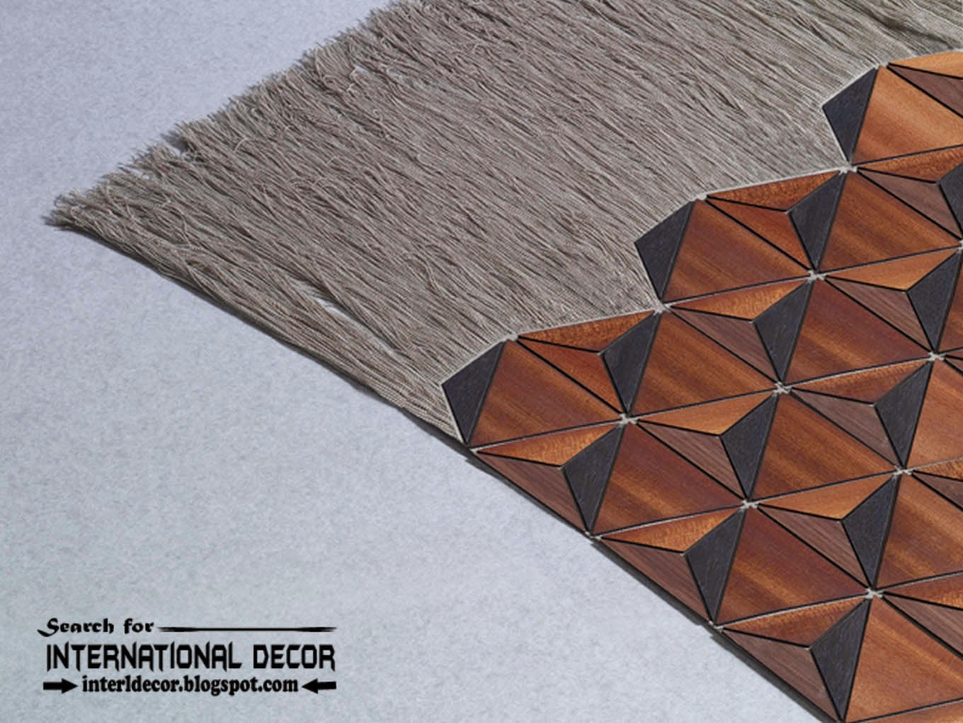 New collection of Eco-friendly wooden carpet and rugs with fringe