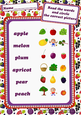 berries and fruits vocabulary worksheet