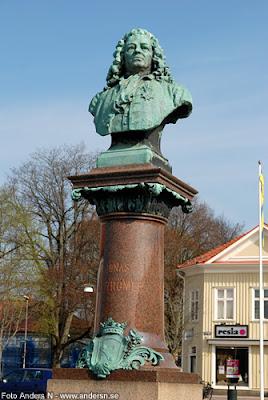 jonas alströmer, potatis, de svenska slöjdernas fader, byst, staty, torget, alingsås, foto anders n
