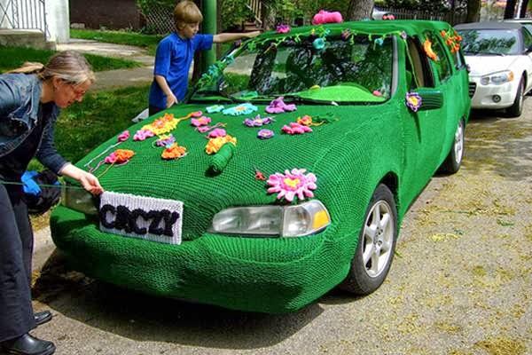 بالصور حياكة معاطف للسيارات