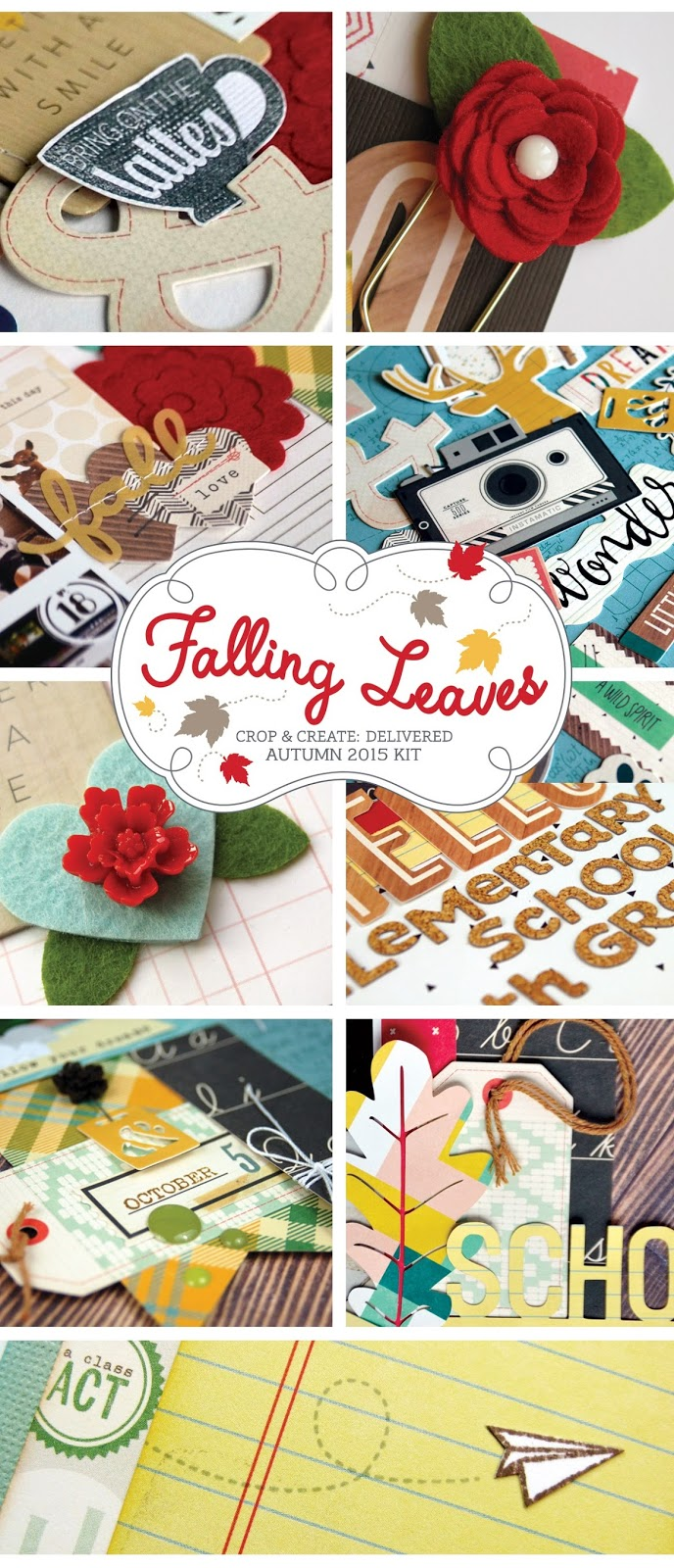 How to scrapbook magazines -  Falling Leaves Scrapbookingkit From Scrapbook Cards Today Magazine Available To Purchase