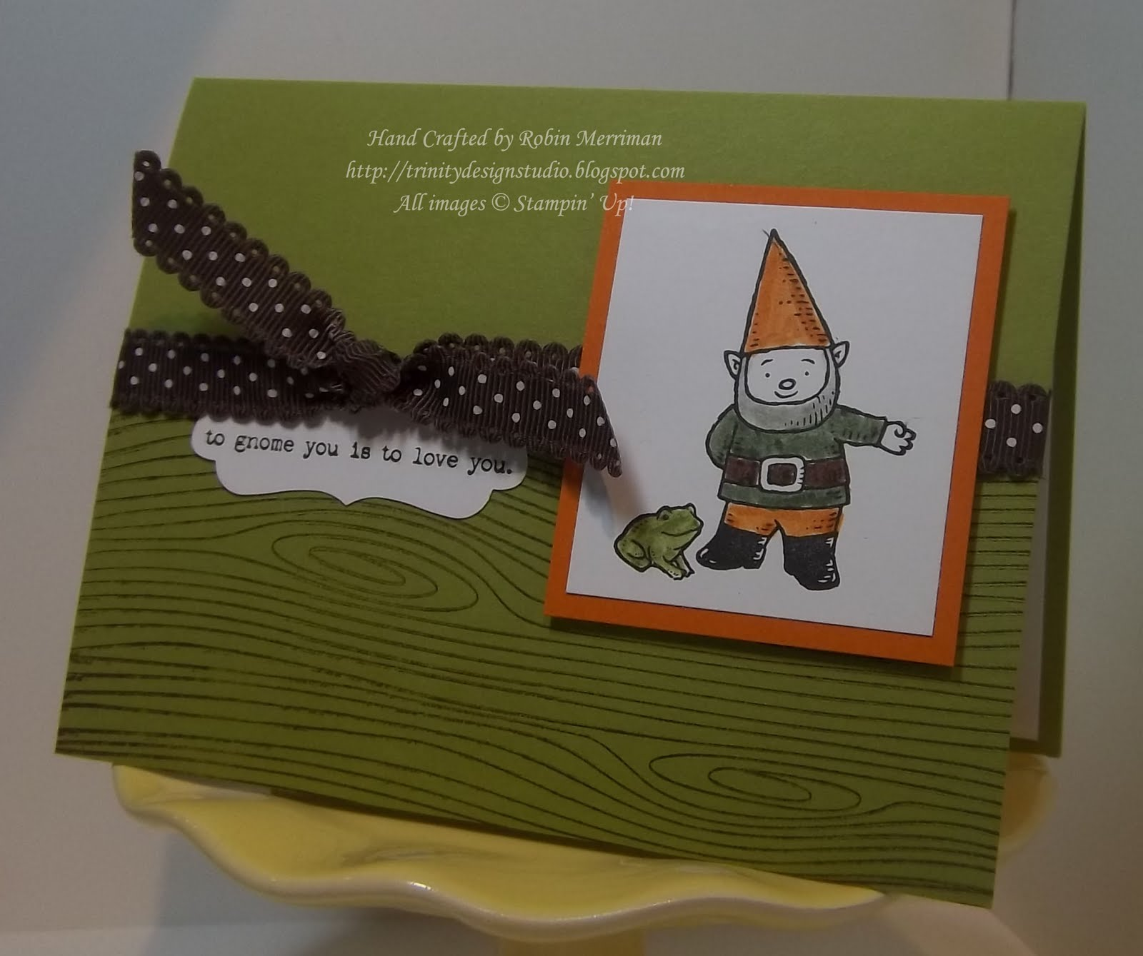 Greeting card Gnomes make the world a better place