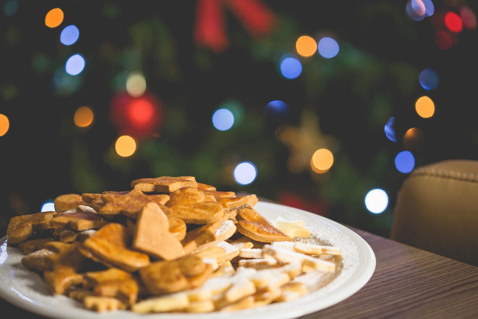 Christmas Cookies with Christmas Tree