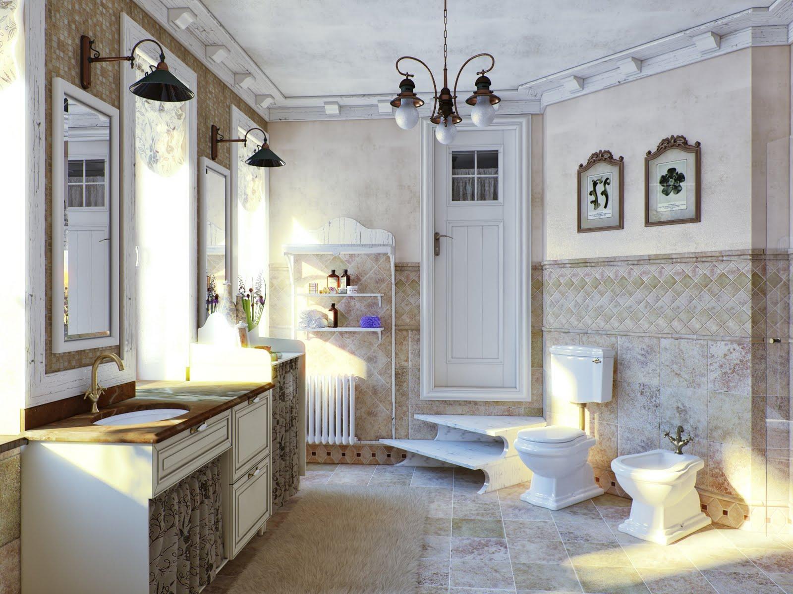 Svetlana nezus portfolio provence bathroom for Provence bathroom design