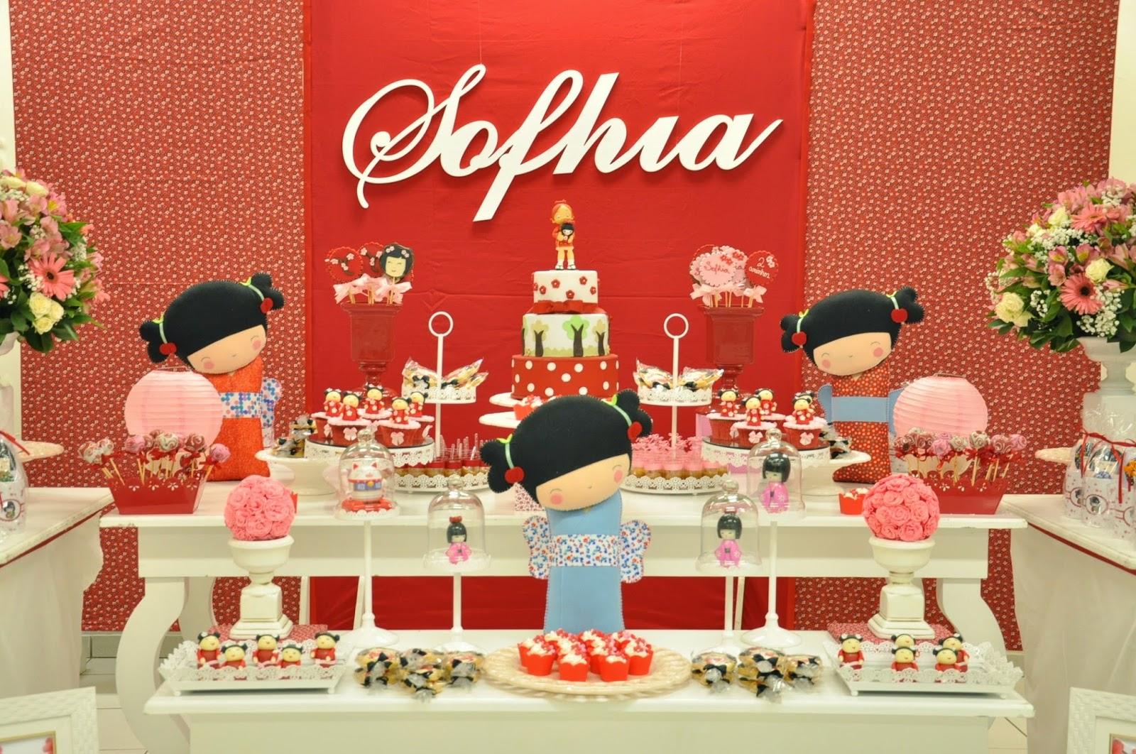 decoracao festa kokeshi: clean e Lembrancinhas Personalizadas: Kokeshi para a Sophia
