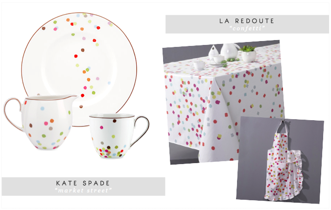 à Parfaire Prettier Nicer Better Faster Cheaper Etc May - Kate spade table linens