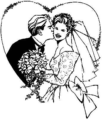 Fun Coloring Pages Wedding Coloring