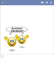 Summer emoticons on vacation