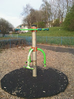 Swirling Round device in Gorgie/Dalry Community Park