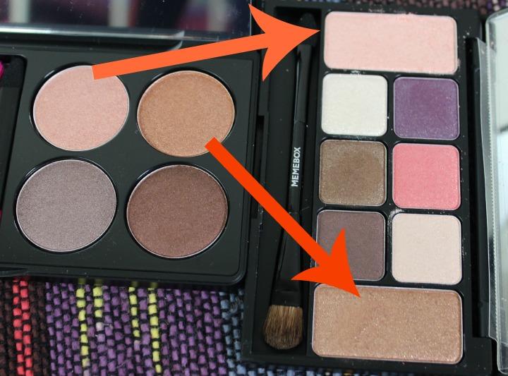 XO Pony X Memebox Eyeshadow Palette Shine Easy Glam #1 comparison to palette 2