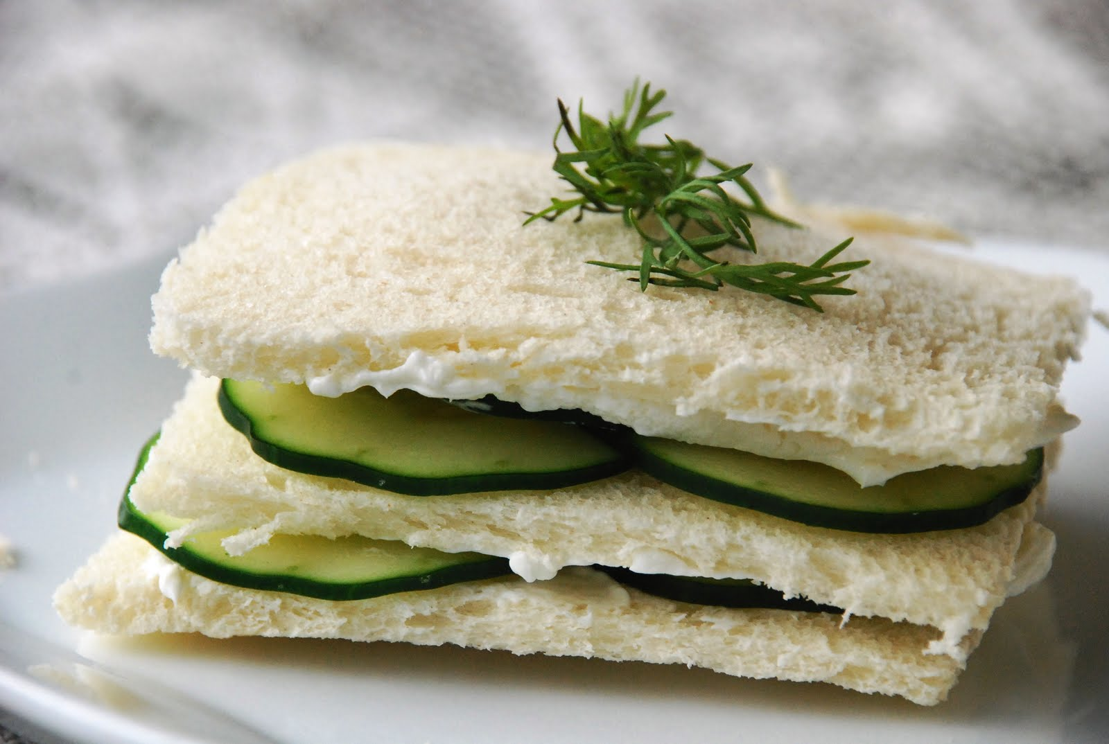 Cucumber, Cream Cheese and Dill Tea Sandwiches