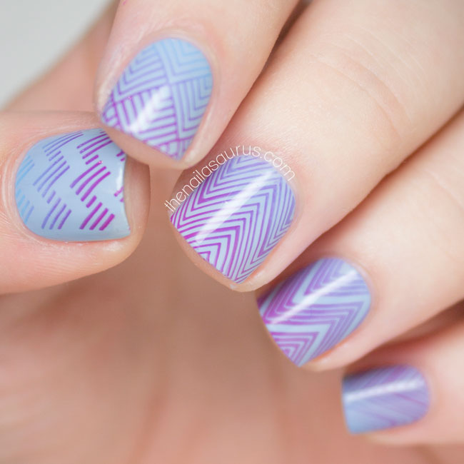 Gradient Stamping with MoYou Fashionista Collection