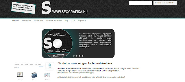 seografika.hu weboldal bemutato kep