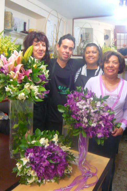 Curso de Arte Floral com alunos ,Eliane (Salavador -BH) , Ilma SP, Clara SP .