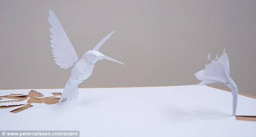 kabar-aneh.blogspot.com - Membuat Patung 3D dengan Selembar Kertas A4