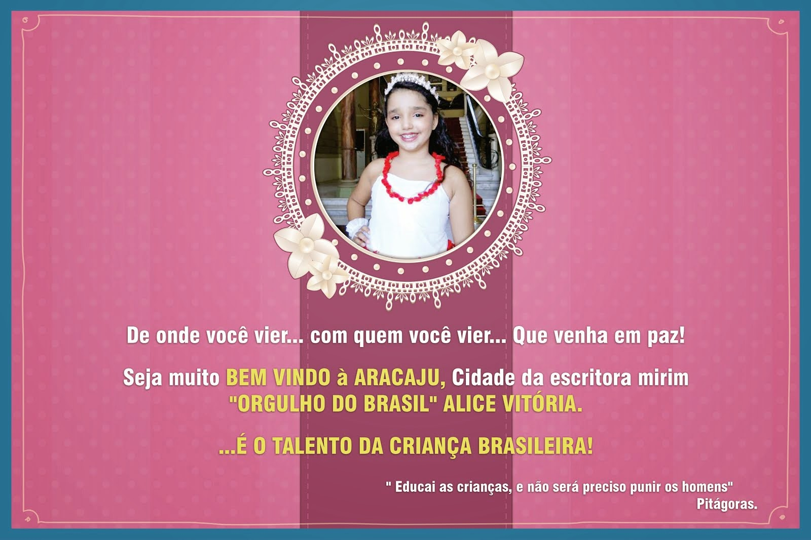 Aracaju, cidade  onde vive Alice Vitória