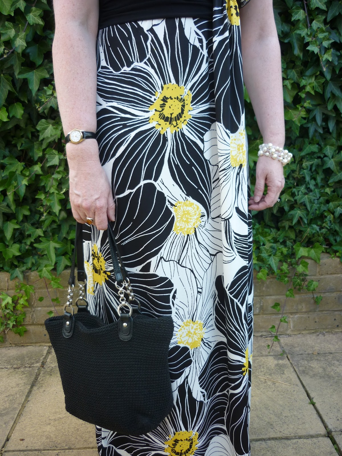 Skirt of Floral Maxi Dress
