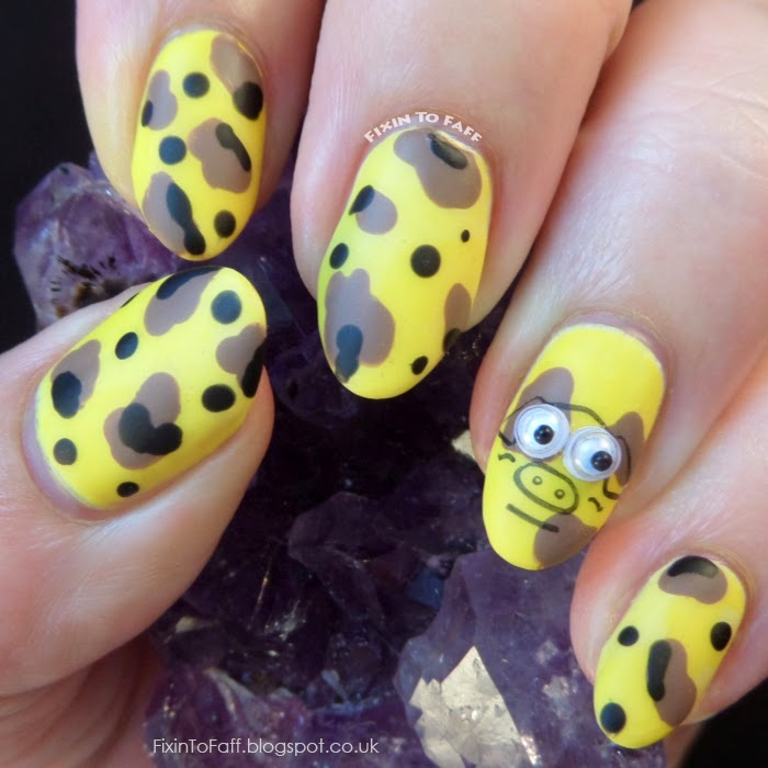 Yellow Pig's Day Nail Art