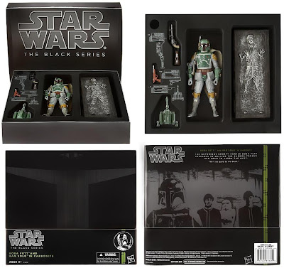 San Diego Comic-Con 2013 Exclusive Boba Fett Star Wars Black Series Action Figure with Han Solo in Carbonite In Packaging by Hasbro