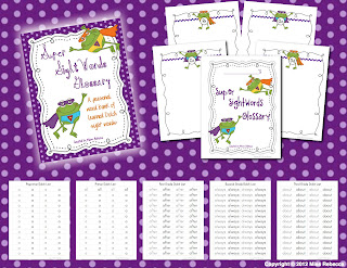 Super Sight Words Glossary with Printable Dolch Sight Words