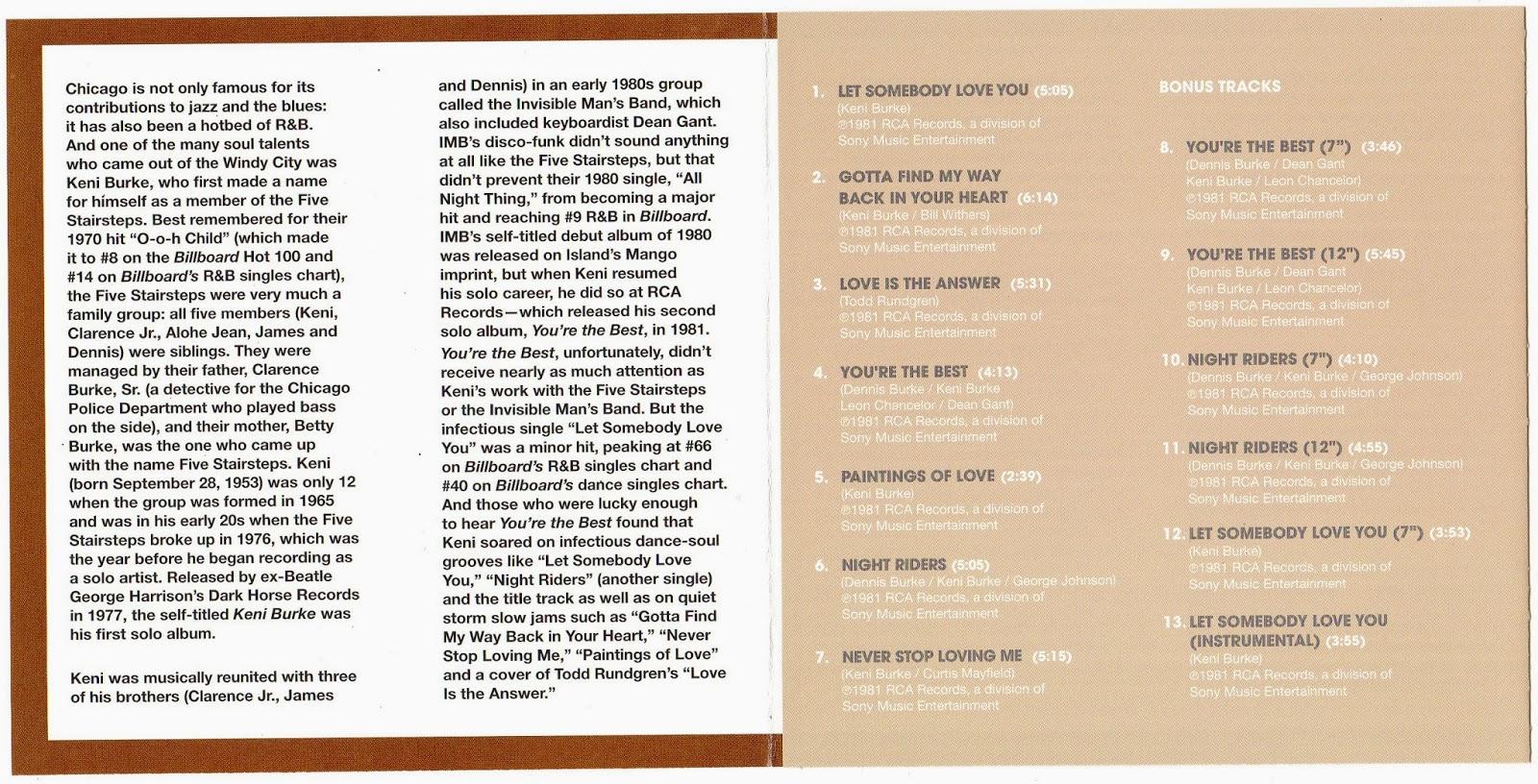 Keni Burke - You're The Best / Night Riders
