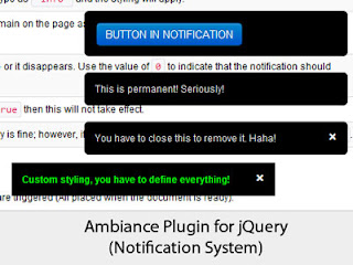 Ambiance Plugin for jQuery - Notification System