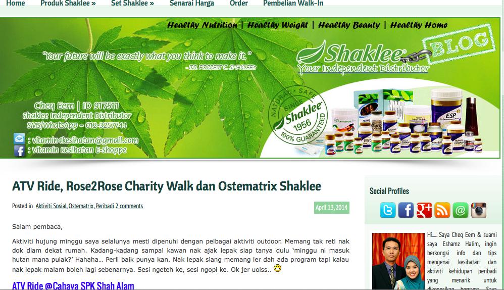 vitamin shaklee untuk kesihatan di shah alam