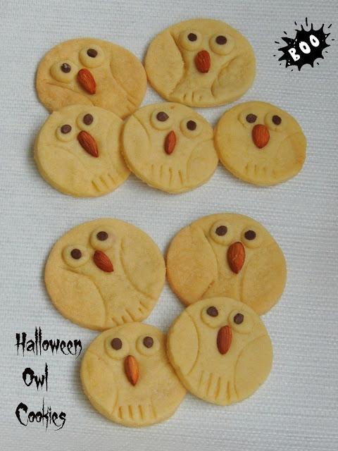 Owl Sugar Cookies, Halloween Owl Cookies