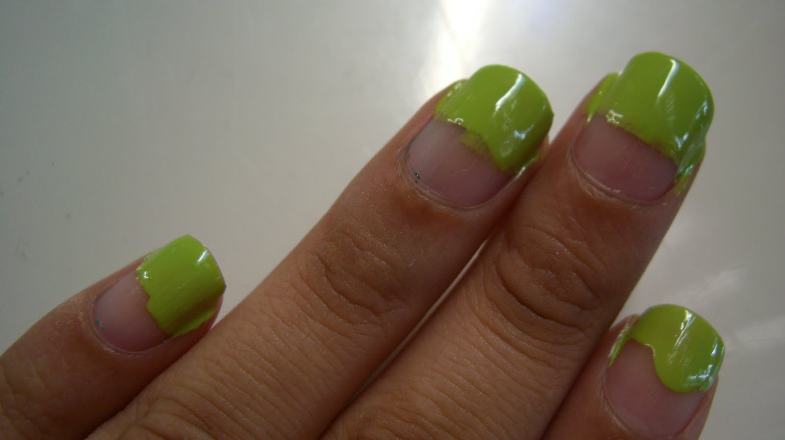 Step 2 Use A Q Tip And Dip One Side Into Some Nail Polish Remover Wet To Wipe Away Excess Create Straight Line On Each
