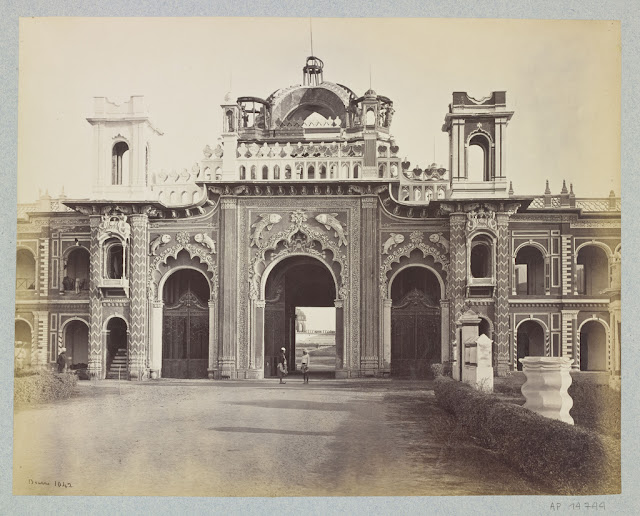 West gateway of the qaisar bagh palace lucknow 1860 39 s for Architecture design for home in lucknow