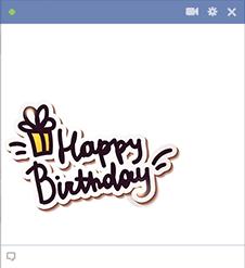 Happy Birthday Text Icon