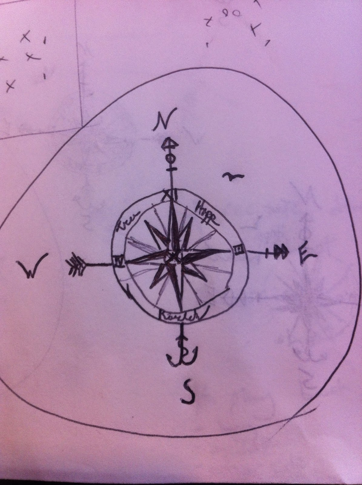 how to draw a crescent with a compass
