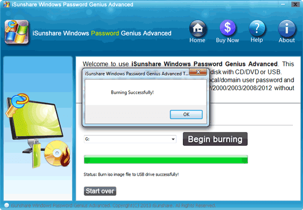 create a windows password reset disk