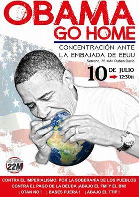 10 julio Obama Go Home