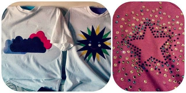 Camisetas DIY Nubes Sol Estrella