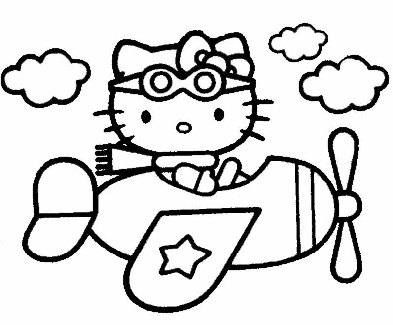 Disegni da colorare e stampare hello kitty for Disegni da colorare hello kitty