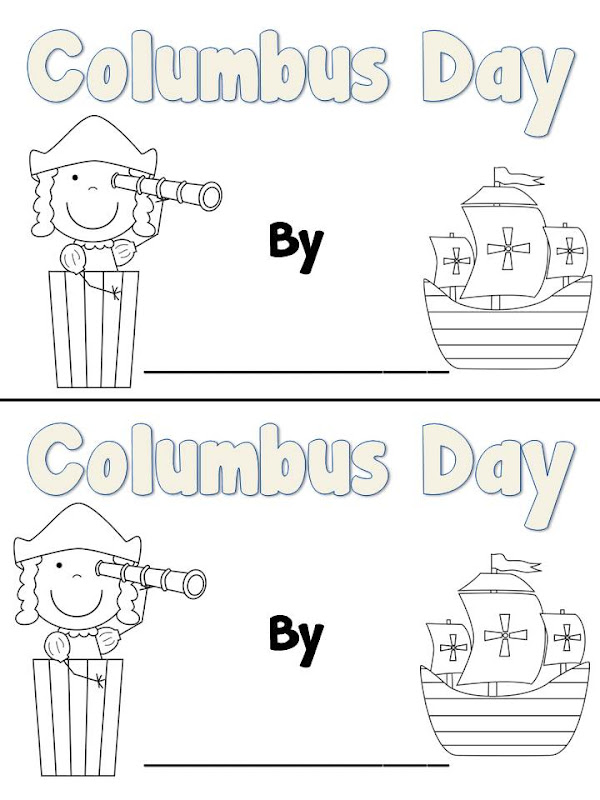 Columbus Day Book and a Sale - Fun in First