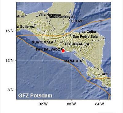 SISMO 5,8 GRADOS SACUDE EL SALVADOR, 08 DE JULIO 2013