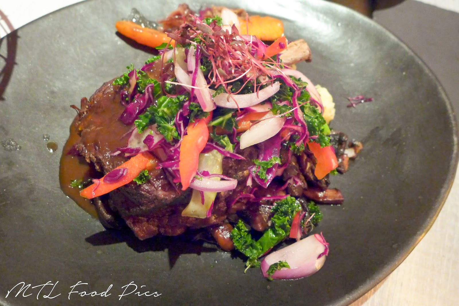 Braised Beef Short Ribs - Das Lokal restaurant