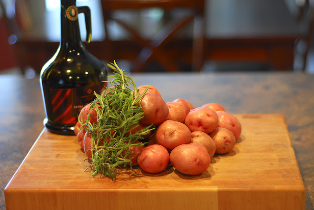 roasted herbed red potatoes