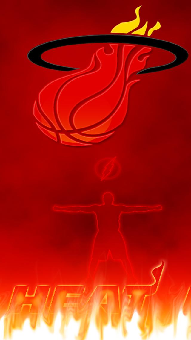 Free Download NBA Miami Heat HD IPhone 5 Wallpapers
