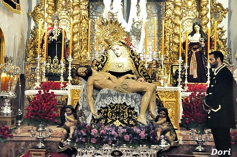Besamanos a la Virgen  de los Dolores de los Servitas