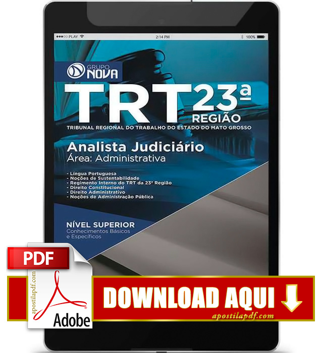 Apostila TRT MT 2015 PDF Download Analista Judiciário