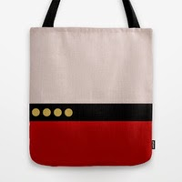 Captain Jean Luc Picard - Star Trek: The Next Generation Tote Bags