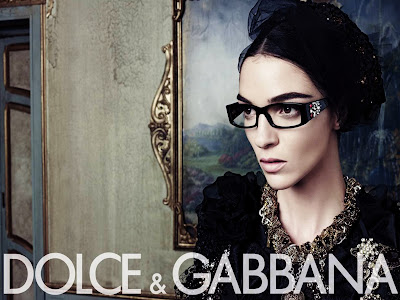 Dolce Gabbana Model with Glasses and Jewellery HD Wallpaper