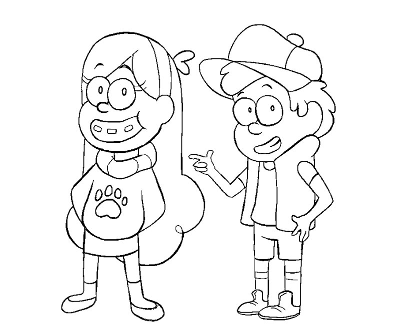 Dipper Gravity Falls Coloring Pages Coloring Pages Gravity Falls Printable Coloring Pages