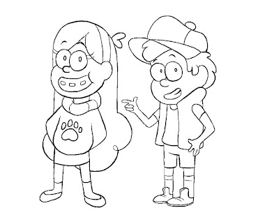 #12 Dipper Pines Coloring Page
