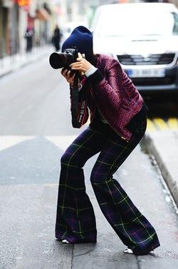 Photographer Street Style by Tommy Ton, NYFW, Plaid, Tartan, Style, Street, Beanie
