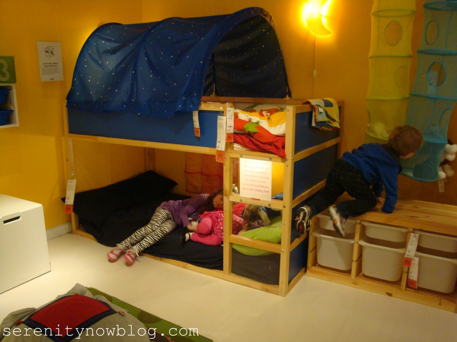 Serenity now ikea decorating inspiration our shopping fun Bunk bed boys room