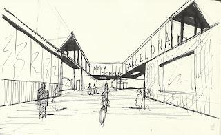 Vista calle central del BETA Complex